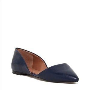 Vince Camuto Geneva d'Orsay Blue Flat Size 8